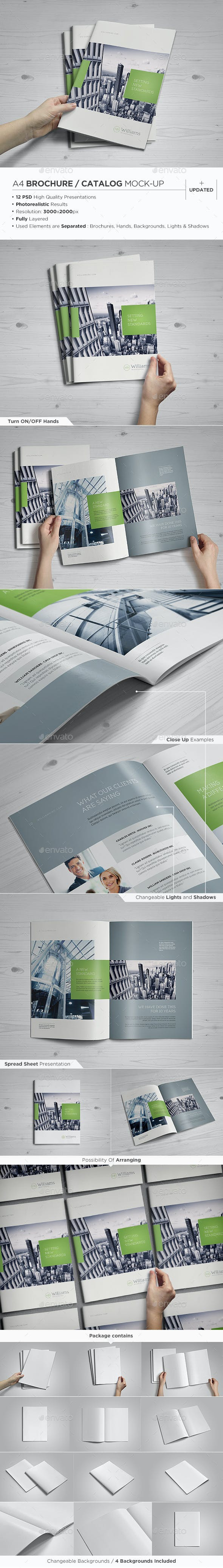 a4 brochure catalog mock up by punedesign graphicriver