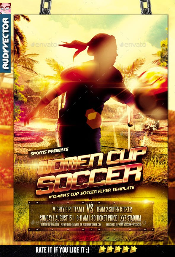 women cup soccer flyer design by rudyvector graphicriver
