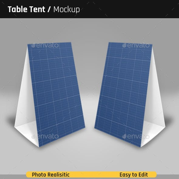 table tent mockup graphics designs templates