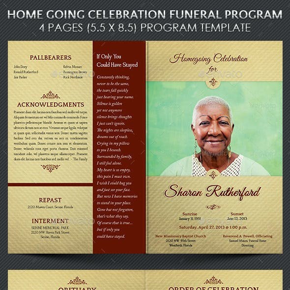 Funeral Program Graphics Designs Templates From Graphicriver Page 2