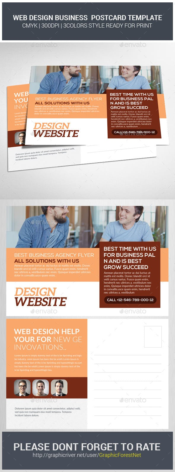 Web Design Company Postcard Psd Template By Graphicforestnet