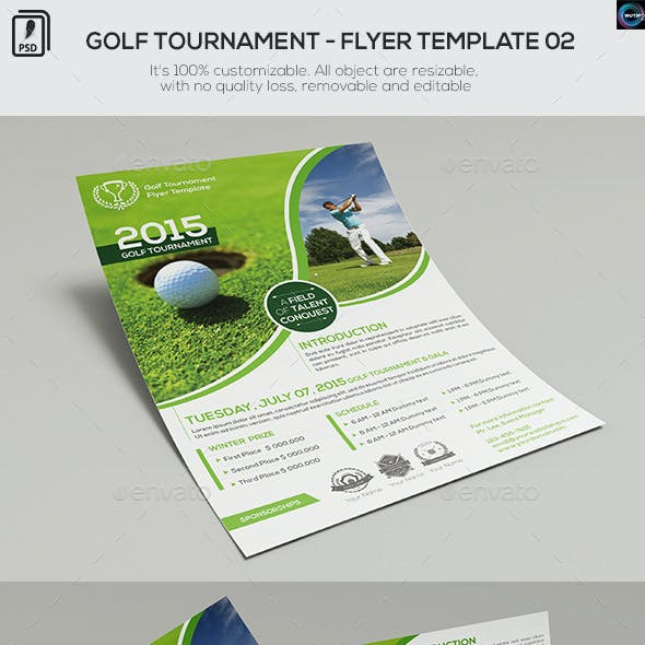 golf cup and long drive graphics designs templates