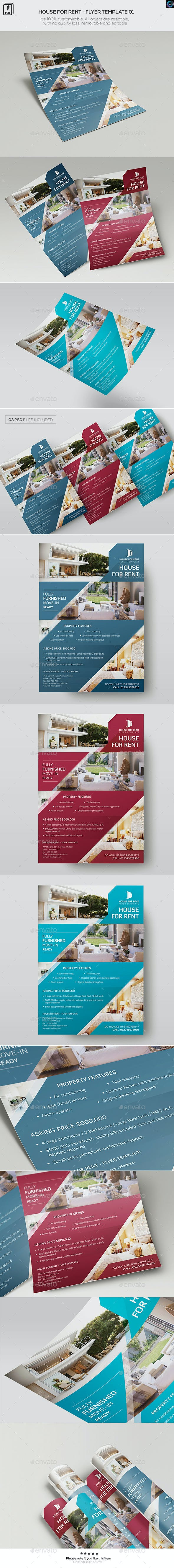 house for rent flyer template 01 by wutip2 graphicriver