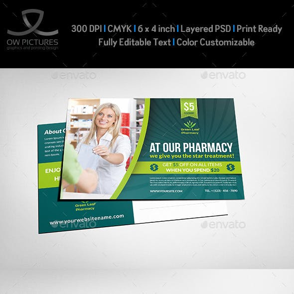 Design And Pharmacy Flyer Graphics Designs Templates
