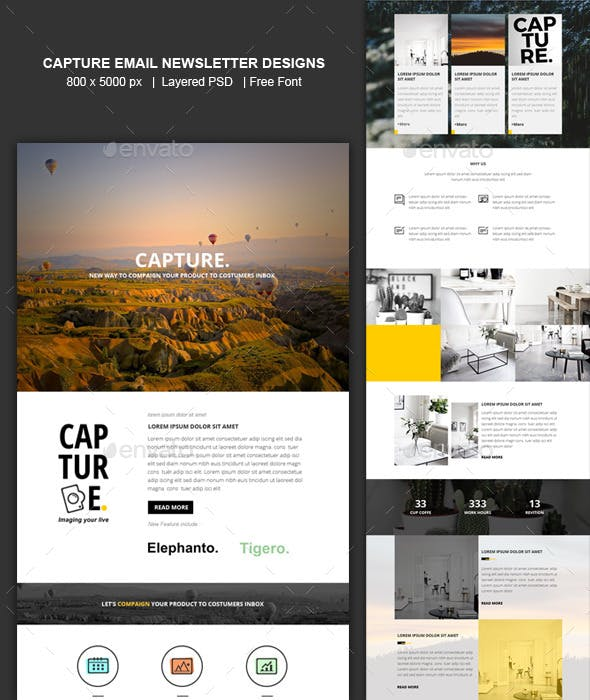 capture email newsletter templates designs by shadiqjayadesigns