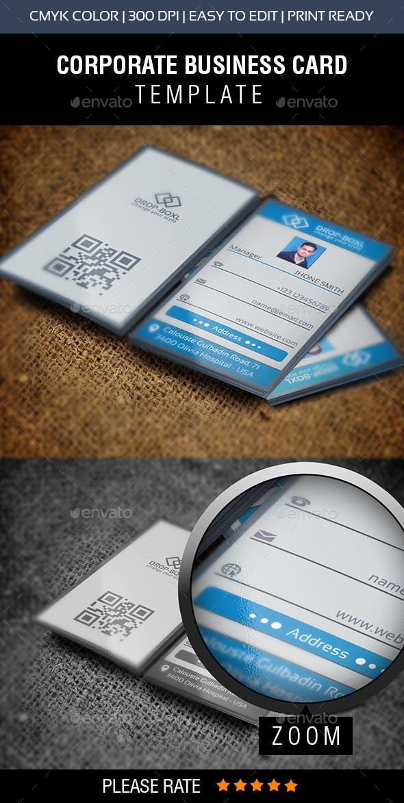 Drop Box Business Card By Shujaktk Graphicriver