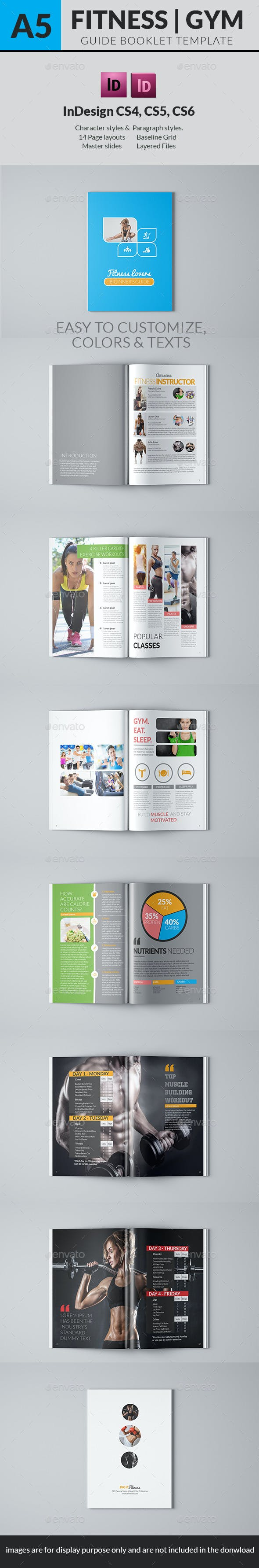 fitness lovers guide book template by hermz graphicriver