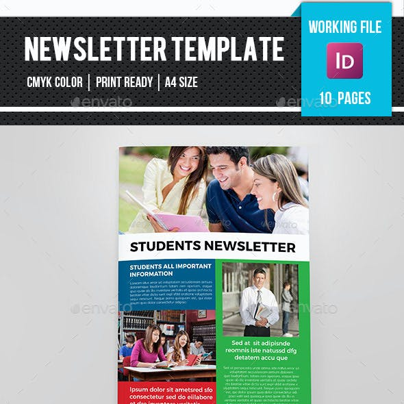 Book Design Newsletter Templates from GraphicRiver