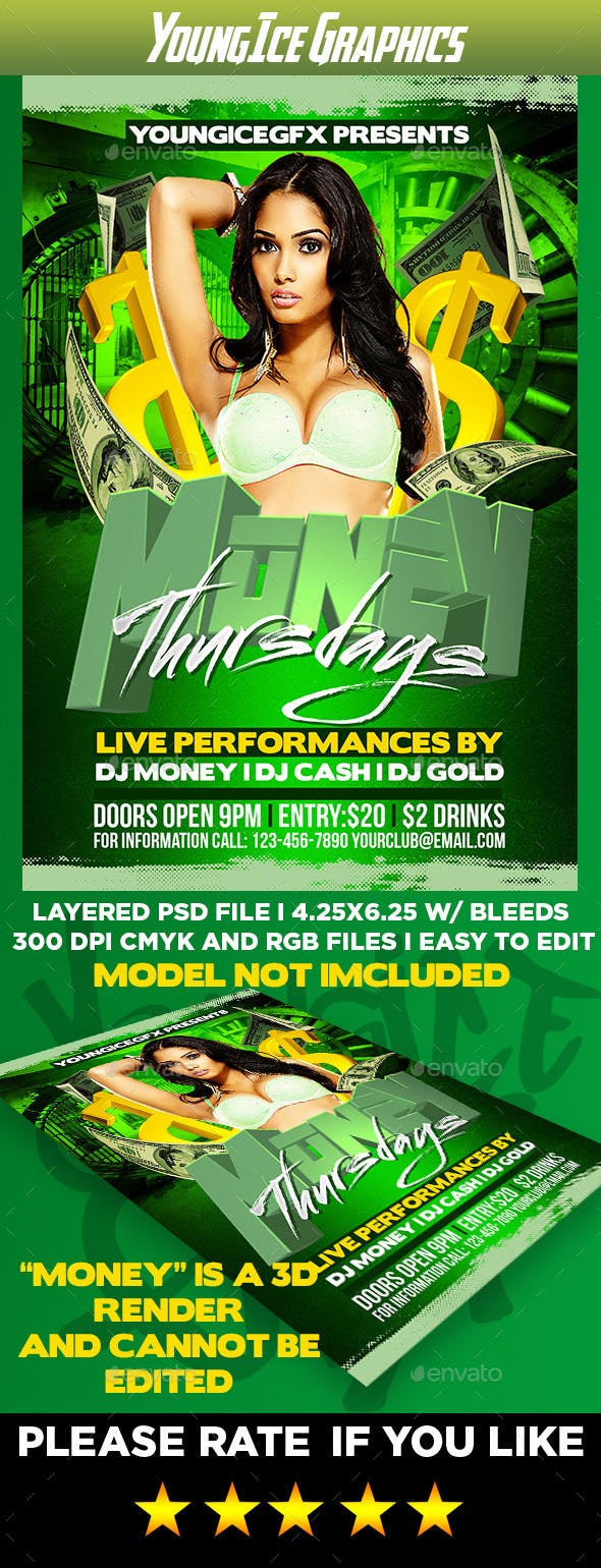 money thursdays flyer template by youngicegfx graphicriver