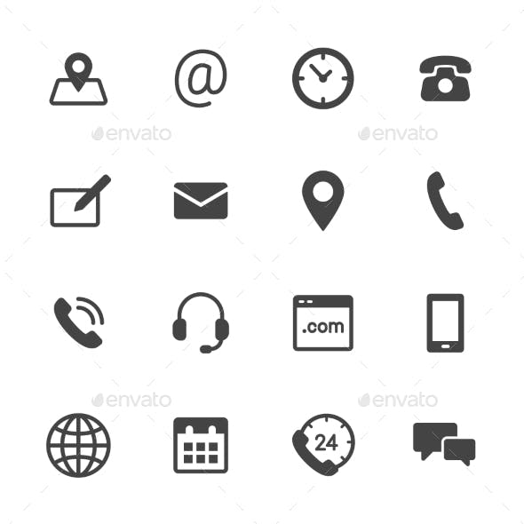 Contact Icons Black