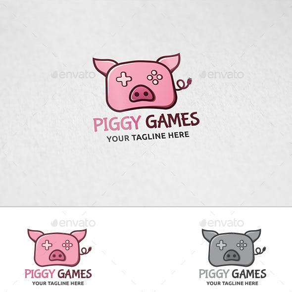 piglet logo templates from graphicriver