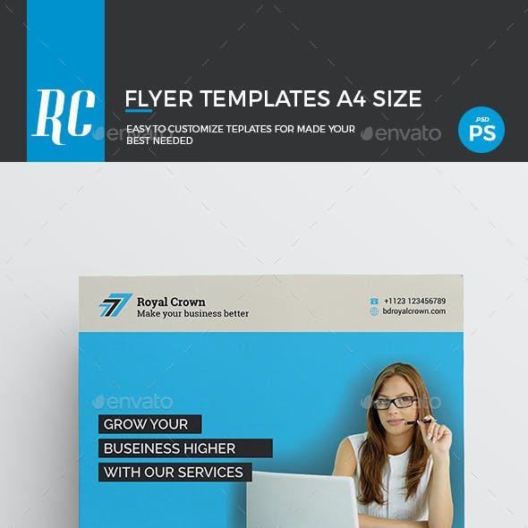 royal crown flyer business flyer template from graphicriver