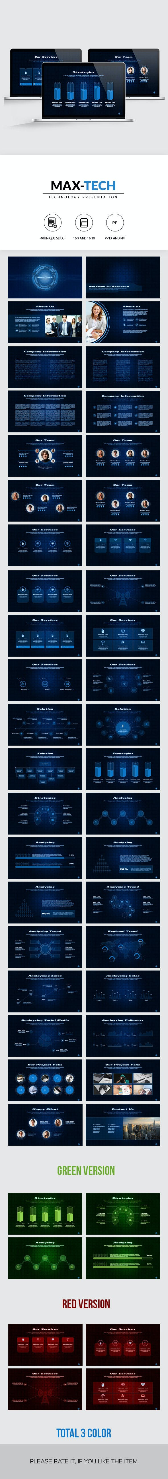 max tech technology powerpoint presentation by smmr graphicriver