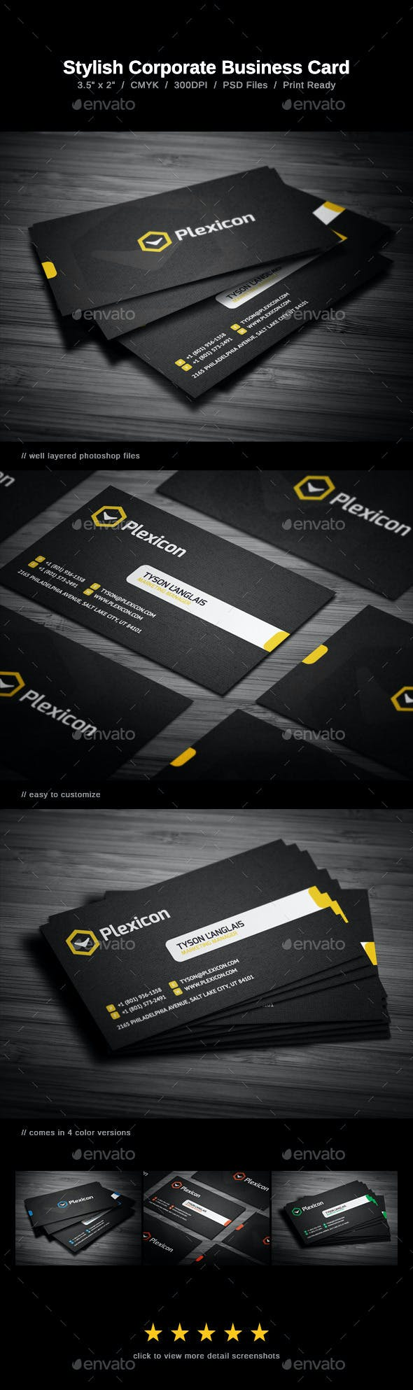 Stylish Business Card By Flowpixels Graphicriver