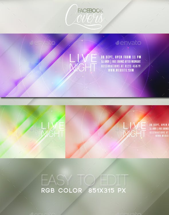 livenight facebook covers by nagasanctuary graphicriver