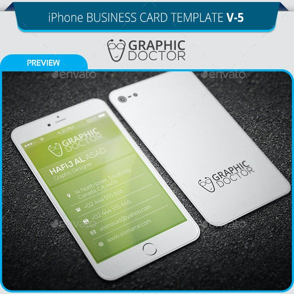 IPhone Business Card Template V 5