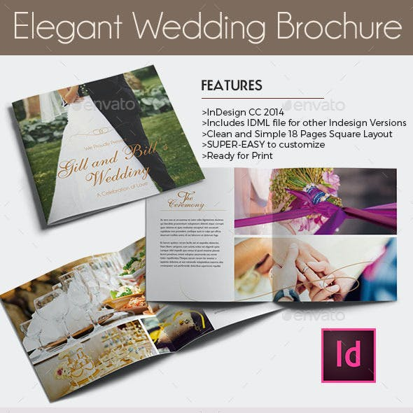 wedding brochure stationery and design templates