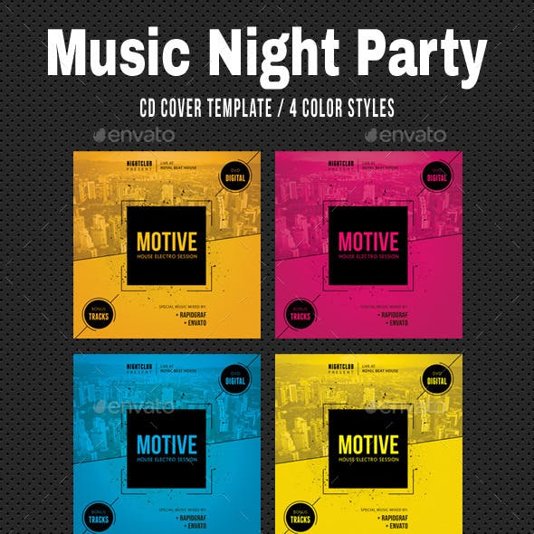music night party cd cover 18