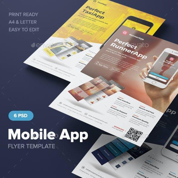 mobile app flyer template graphics designs templates