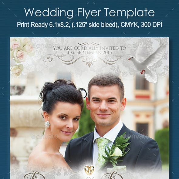wedding flyer template graphics designs templates