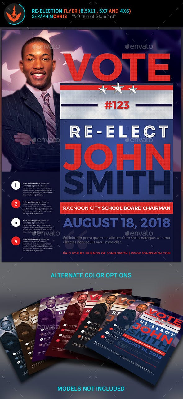 vote re election flyer templates events flyers