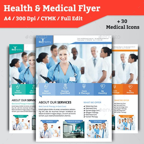 Medical Flyer Template Graphics Designs Templates