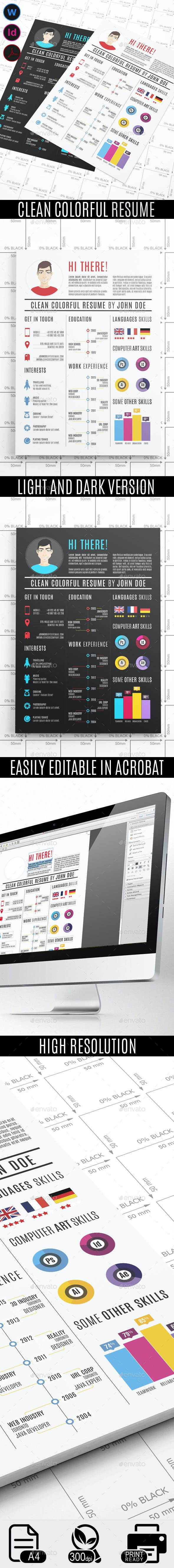 clean colorful resume by gfsolutions graphicriver