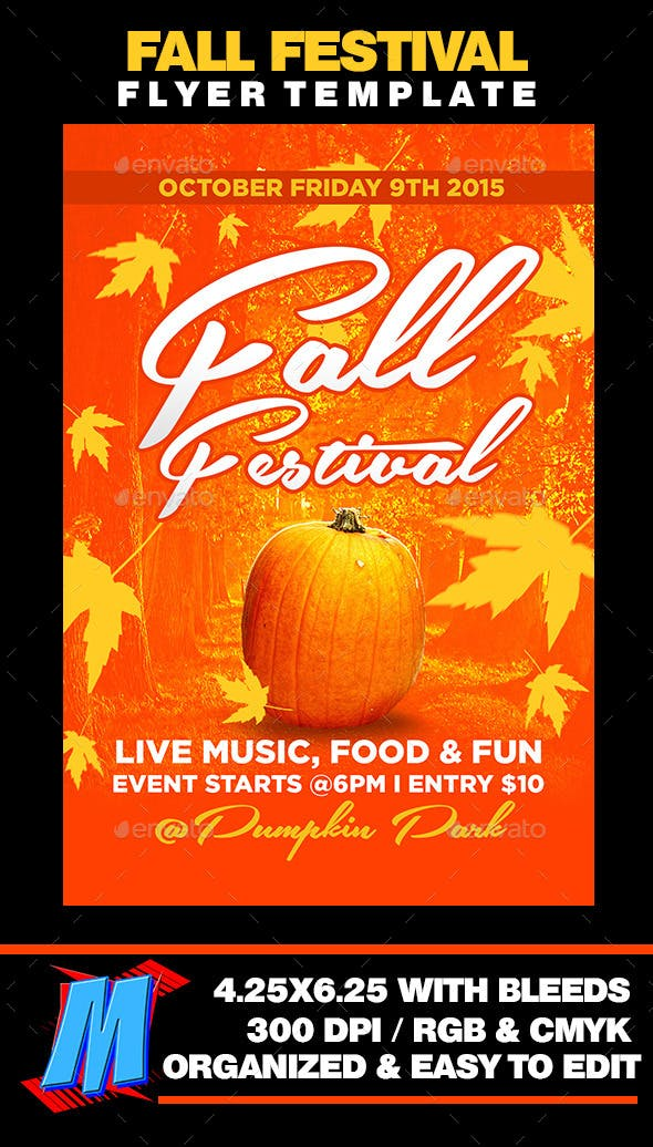 fall festival flyer template by megakidgfx graphicriver