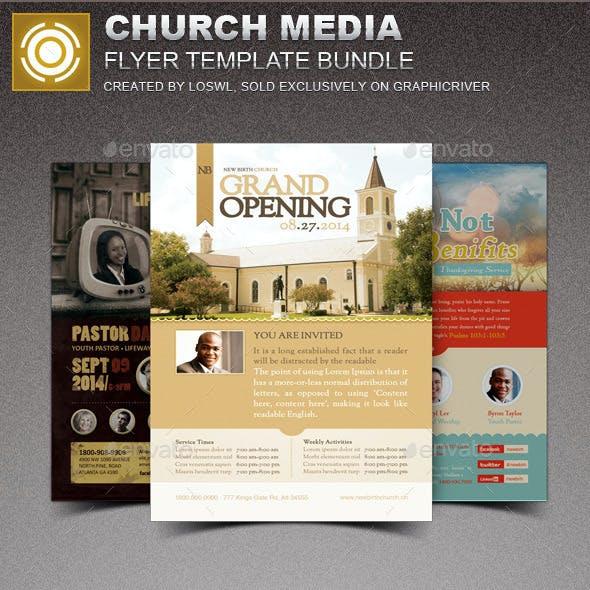Church Media Flyer Template Bundle