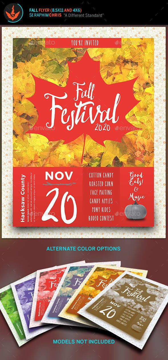 fall festival flyer template by seraphimchris graphicriver