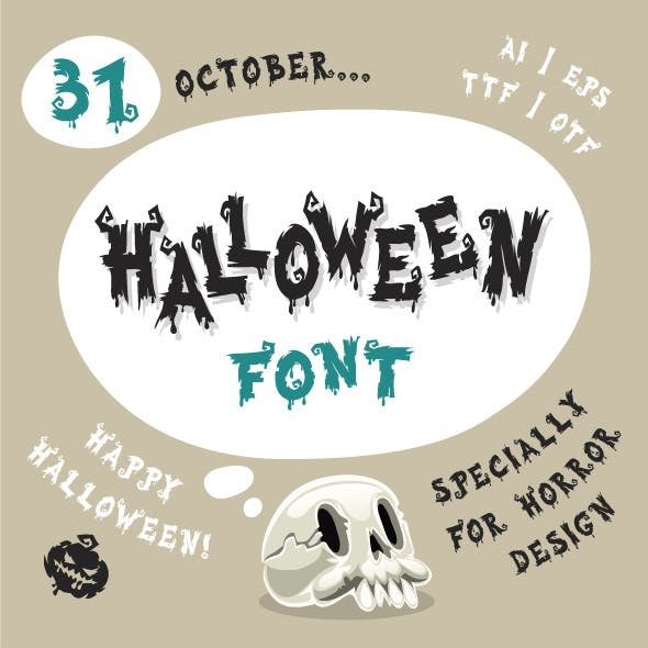Alphabet and Spooky Font from GraphicRiver