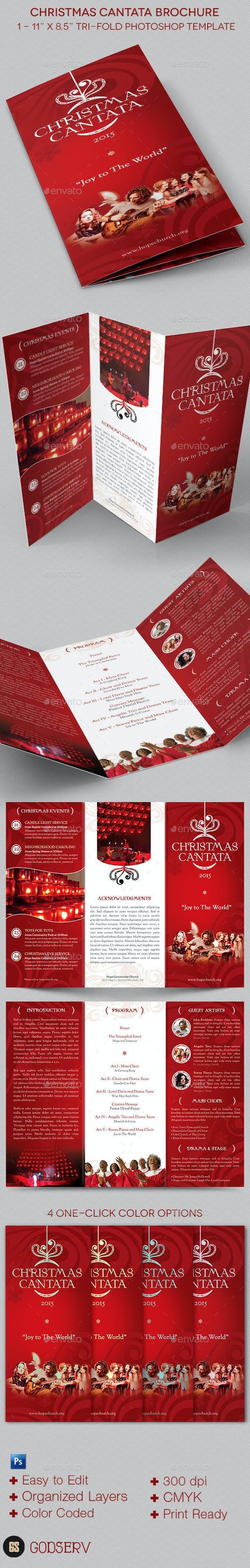 christmas cantata brochure template by godserv graphicriver