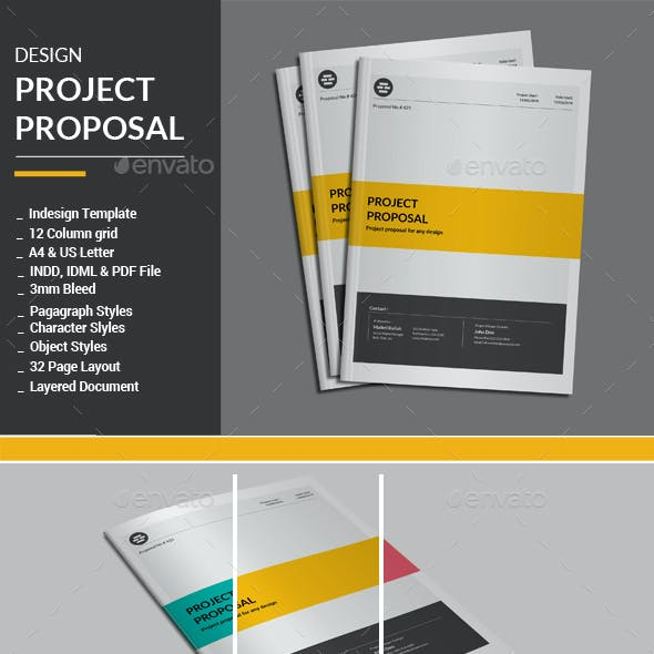 Project Proposal Template Graphics Designs Templates