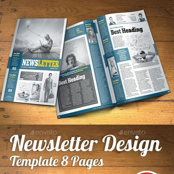 a4 and newspaper newsletter templates from graphicriver