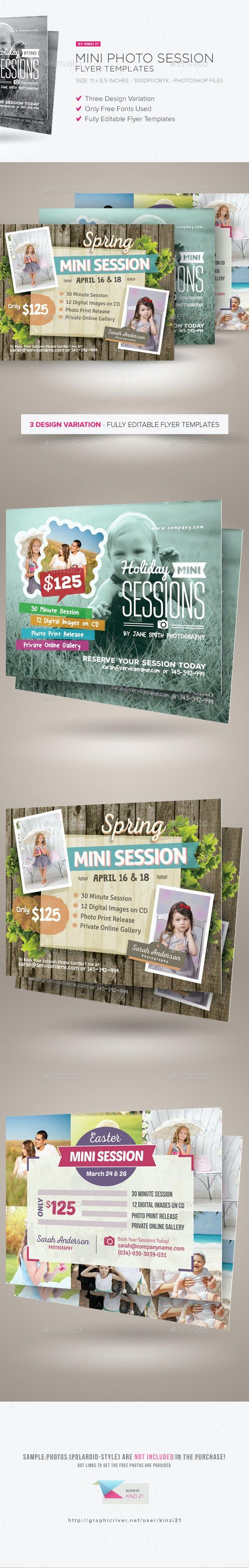 mini photo session flyer templates by kinzi21 graphicriver
