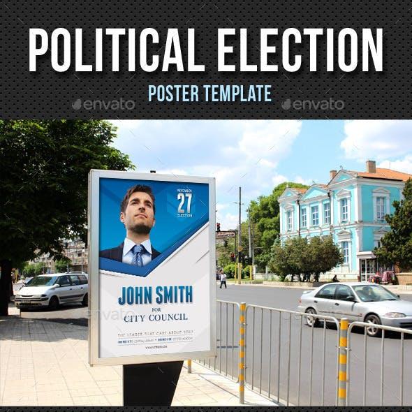 political election poster template v01