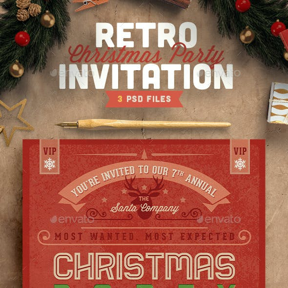 retro holiday graphics designs templates from graphicriver