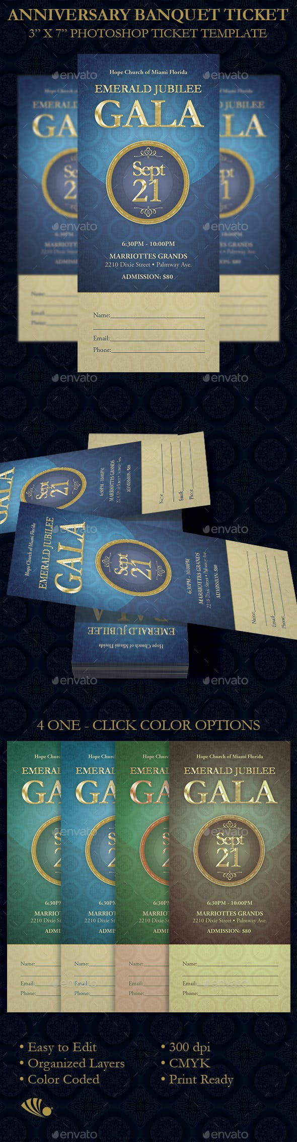 anniversary banquet ticket template by 4cgraphic graphicriver