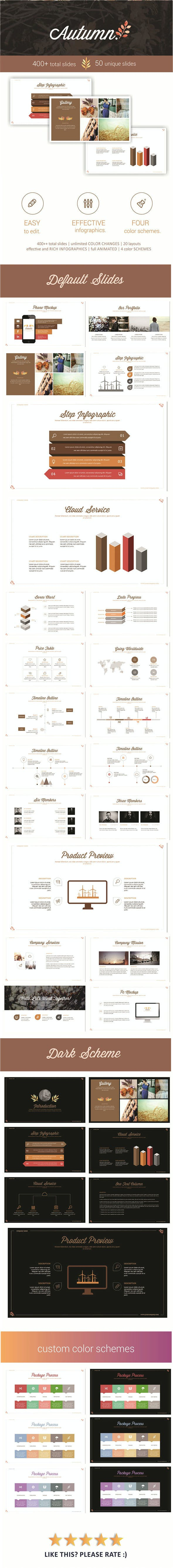 autumn powerpoint template by presentakit graphicriver