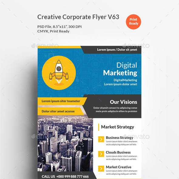 creative corporate flyer v63