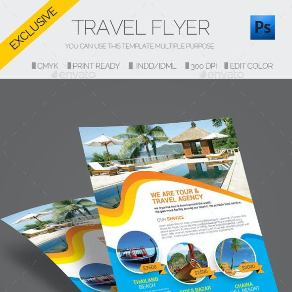 travel tour flyer template