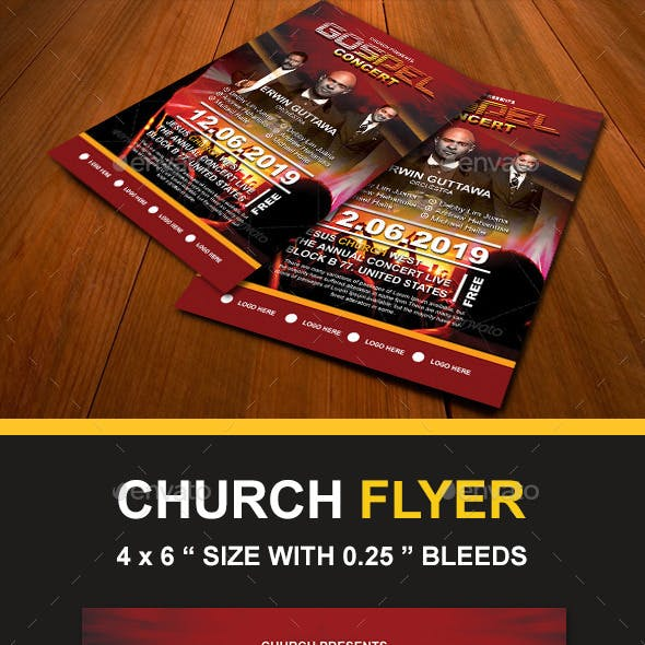 Church Concert Flyer Graphics Designs Templates