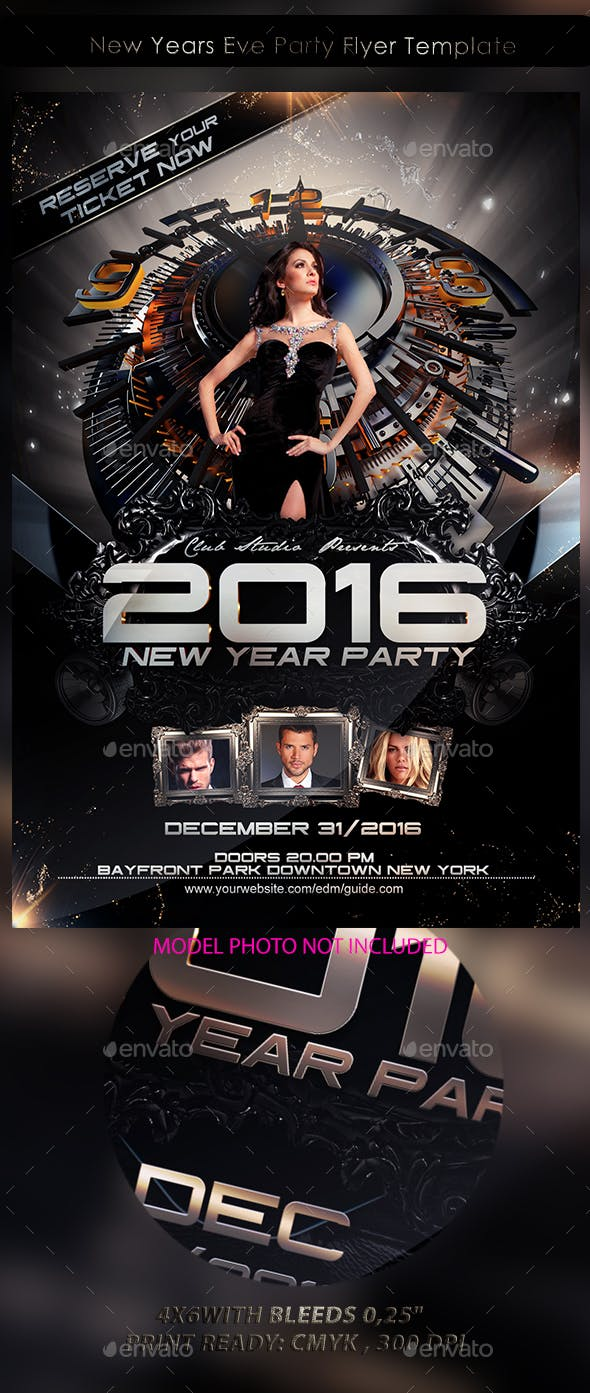 new years eve party flyer template by stormclub graphicriver