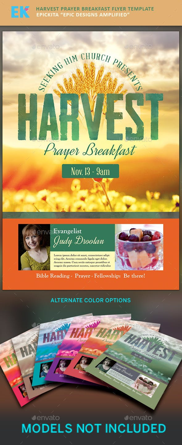 harvest prayer breakfast flyer template by epickita graphicriver