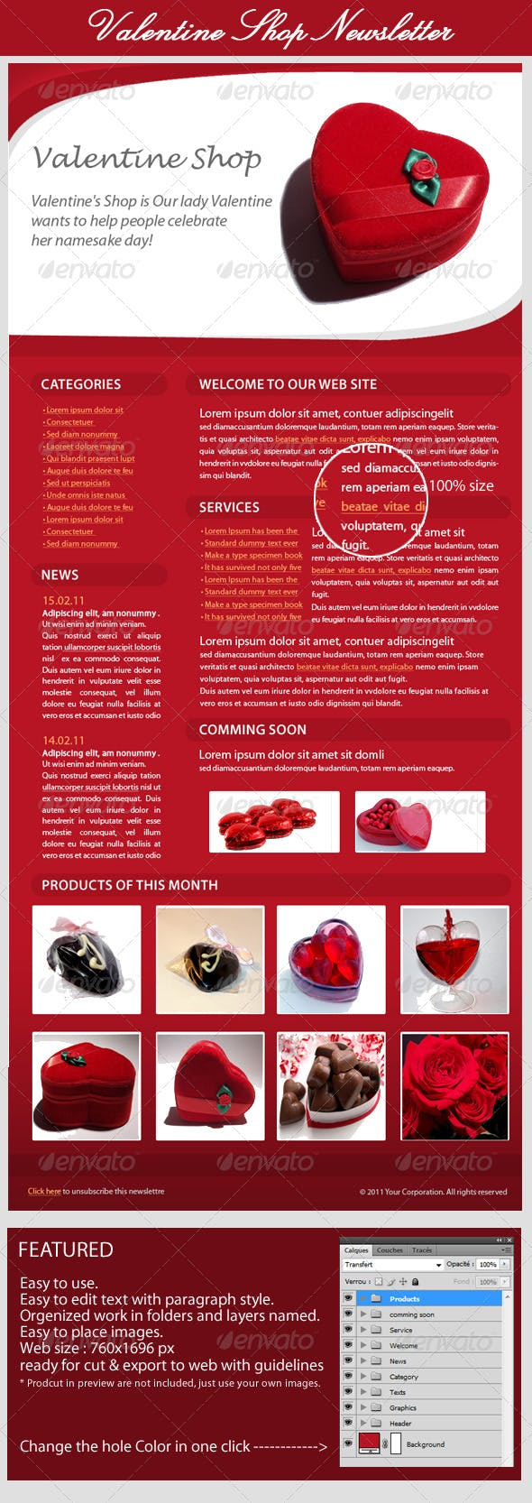 Valentines Day E Newsletter By Bagera Graphicriver