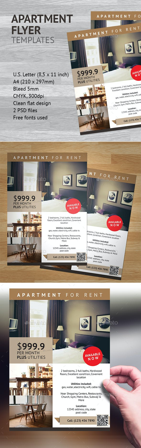 apartment flyer template 1 by heriwibowo graphicriver