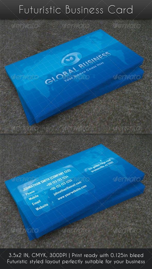 Futuristic Business Card By Raincutter Graphicriver