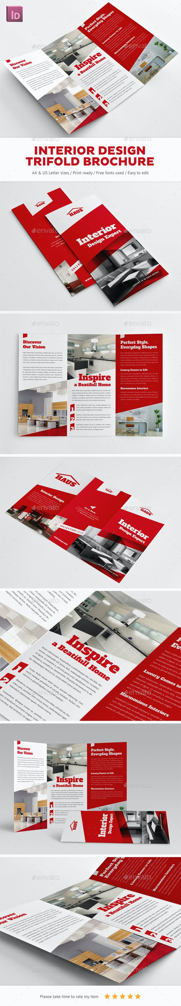 interior design trifold brochure by snowboy graphicriver