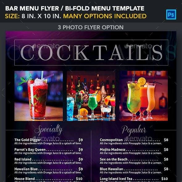 Bar Menu Template Graphics Designs Templates