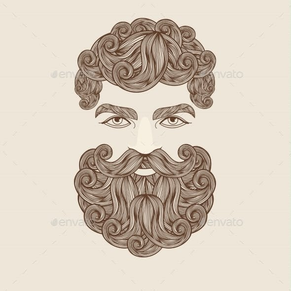 Goatee And Men Graphics Designs Templates From Graphicriver